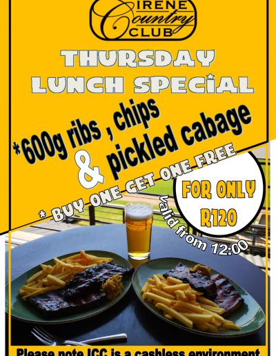 THURSDAY LUNCH SPECIAL